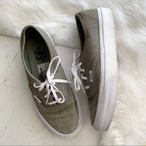 Vans • Silver Glitter Metallic Shoes